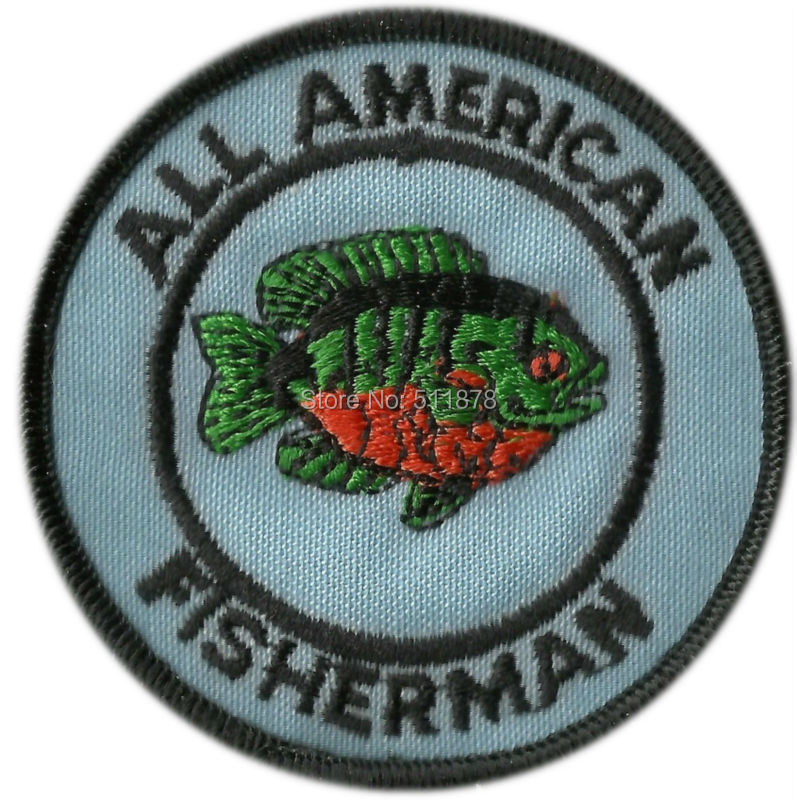 Vintage All American Fisherman patch Fishing patch