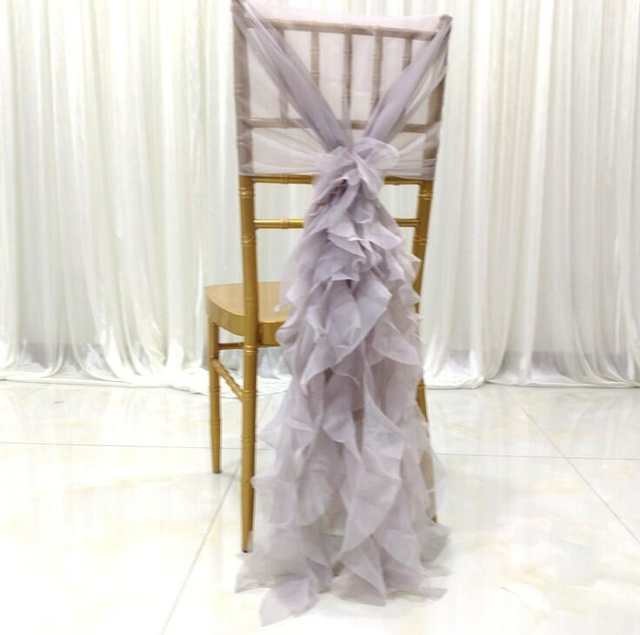 ruffle chair sashes leather executive desk online shop marious wedding hood 50pcs chiffon ruffled window cover