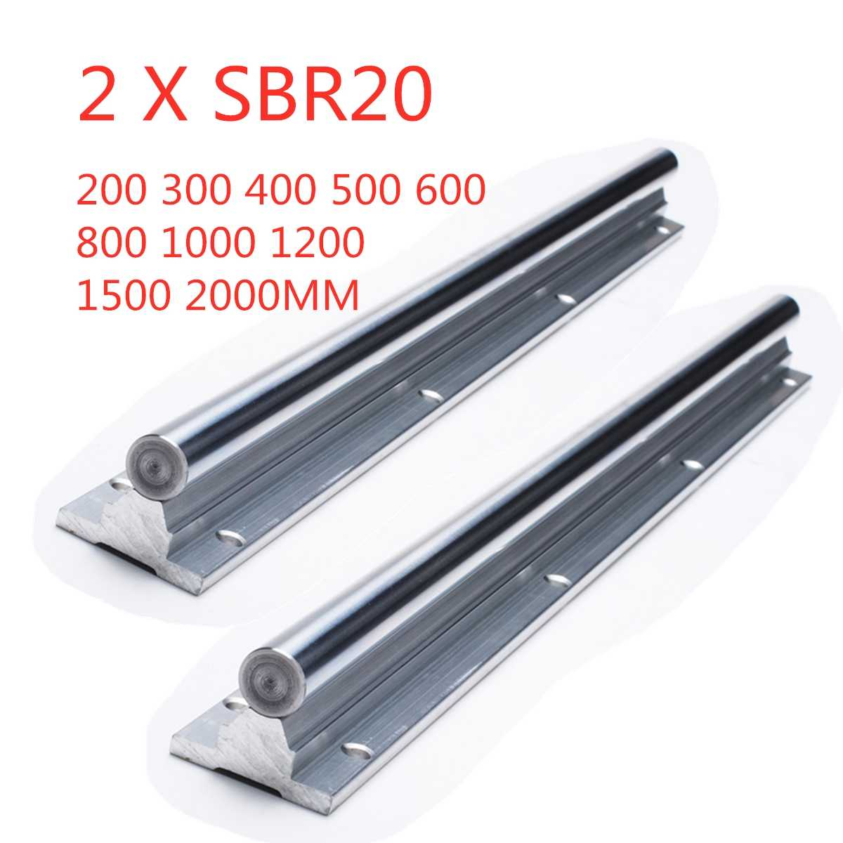 2pcs SBR20 200-2000mm Linear Guide Rail SBR20 Linear Bearing Blocks for CNC parts 20mm Linear Rail