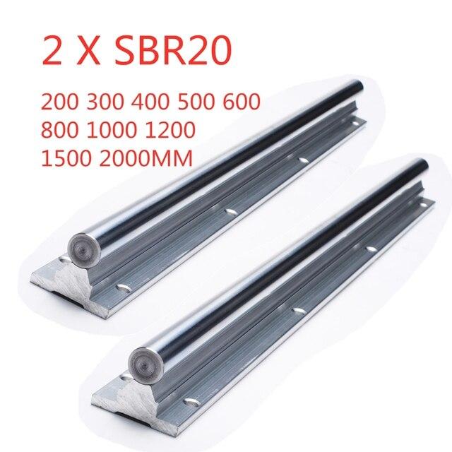 2pcs SBR20 200 2000mm Linear Guide Rail SBR20 Linear Bearing Blocks for CNC parts 20mm Linear Rail