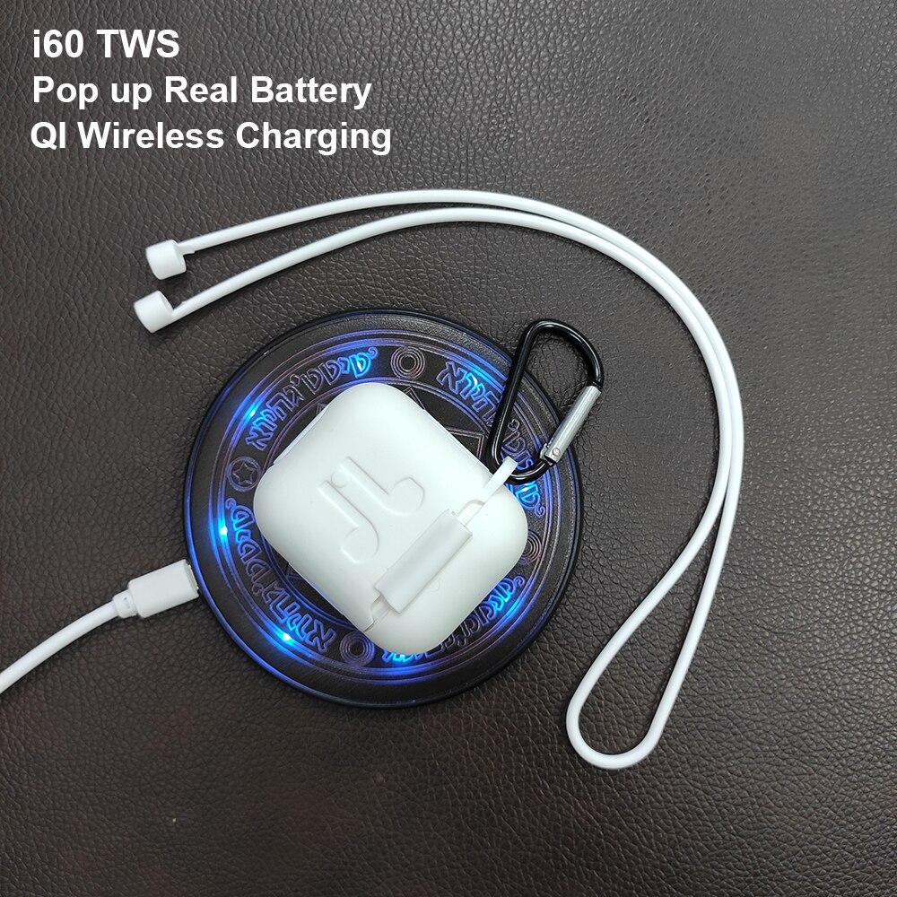 Original I60 Tws Pop Up 1:1 sans fil Bluetooth écouteurs puce sans fil de charge pour Apple téléphone Iphone Android casque pk i12 i30