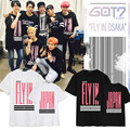 Kpop KPOP GOT7 FLY IN JAPAN BRAND Shirt K-POP 2016 New Fashion Classic Black Cotton Solid Short Sleeve T-Shirts