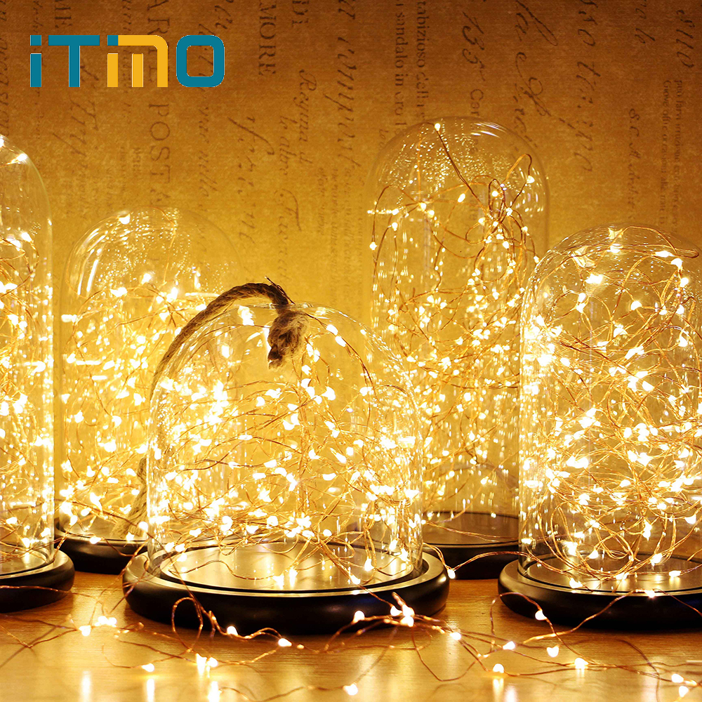 ITimo Fairy Lights 5M 10M LED de luz de cadena USB Power para Garland - Iluminación de vacaciones