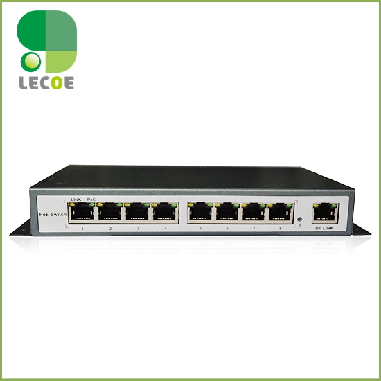 9 port 8 IEEE802.3af/at PoE Switch/Adapter for CCTV Network POE IP Cameras System  8 x 100M bit Auto-MDI 5 port 10 100m switch converter 1 sc fiber 4 poe power adapter ieee802 3af