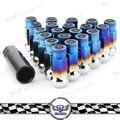 Kyostar-  20pcs M12x1.5  Racing Steel Lock Lug Nuts Universal Titanium Blue  Wheel Lug Nuts
