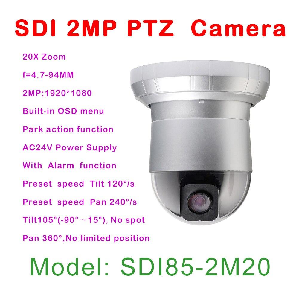 HD SDI 2mp 20x HD PTZ camera indoor 1080p, 7 Alarm input/ 2 Alarm output,Security Ceiling/Wall Mount High Speed Dome Camera hd sdi miniature headset bullet camera 1920x1080 30fps