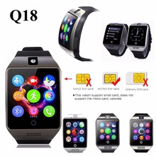WLNGWEAR Q18 Passometer Smart watch with Touch Screen camera TF card Bluetooth smartwatch for Android IOS