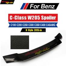 W205 Spoiler Rear Wing DeckTail R Style Carbon For Mercedes Benz 2-door c180 c200 c252 c300 c350 c400 Trunk 2015-18