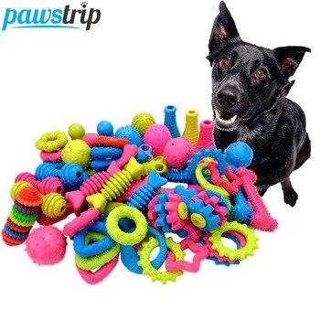 Pawstrip-juguetes de goma para perros, 1 unidad, resistente a mordidas, juguete para...