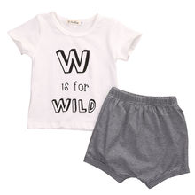 Baby Boys Clothing Short Sleeve T-shirt Tops Shorts Striped Outfits Set 2pcs Newborn Infant Baby Boy Clothes Set 0-24M