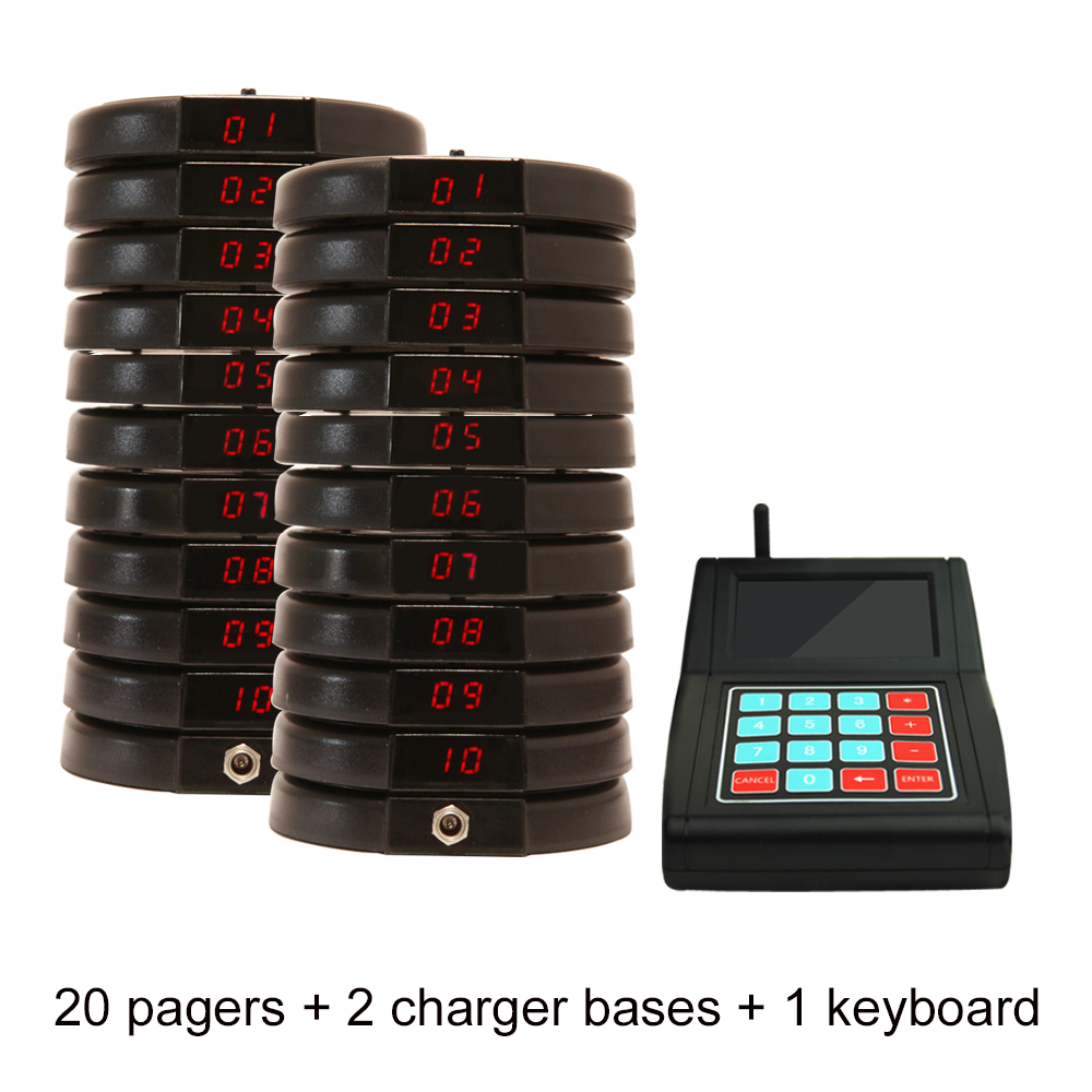JINGLE BELLS wireless guest paging system queueing system restaurant paging system in 433 92 mhz 20