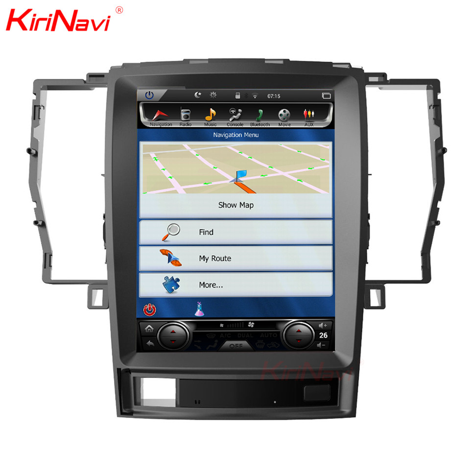 KiriNavi Vertical Screen Tesla Style Android 7.1 10.4 Inch Car Radio For Toyota Crown Navigation Gps Multimedia 64g 2008 2012