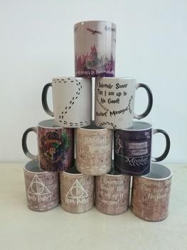 hogwarts Mugs marauders map mugs coffee mug morphing travel mug novelty heat changing color printing transforming tea  harry potter mug marauders map