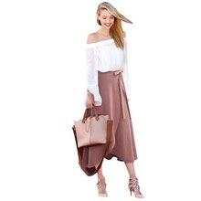 af25fdec7c Mujer Faldas 2018 mujeres alta cintura Irregular falda partida partido  largo vendaje traje faldas irregulares más tamaño 5XL 6XL