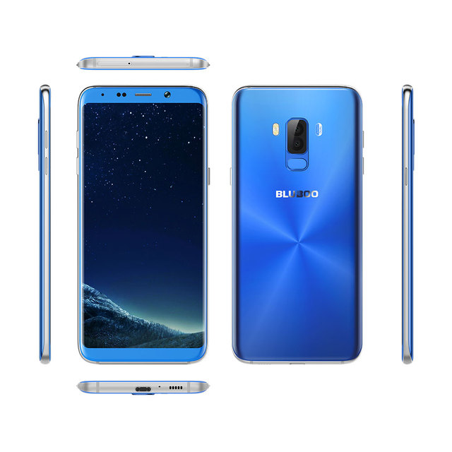 BLUBOO S8 Plus 6.0'' 18:9 Full Display Smartphone MTK6750T Octa Core 4G RAM 64G ROM Android 7.0 Dual Rear Camera Fingerprint