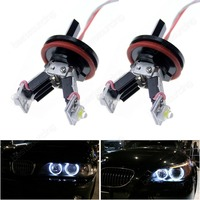 2x H8 6W LED Angel Eyes Canbus Halo Light E82 E90 E92 E60 E63 X5 X6