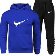 New 2018 Brand Tracksuit Men Thermal Men Sportswear Sets Fleece Thick Hoodie+Pants Sporting Suit Casual Sweatshirts Sport Suit