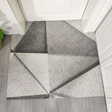 Entry door mat PVC Wire loop soft High elasticity carpet geometric pattern Europe style non-slip bathroom waterproof floor