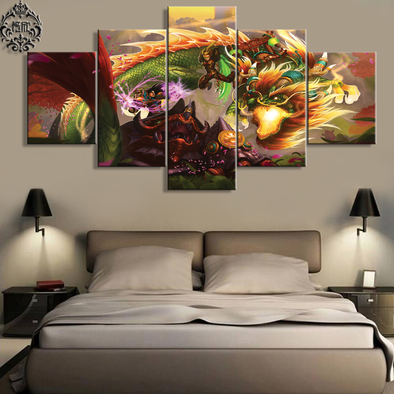Popular Warcraft ArtBuy Cheap Warcraft Art Lots From China - Wall decor canvas