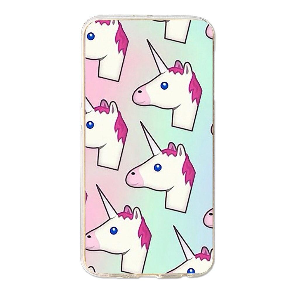 Wallpaper iphone unicorn tumblr - For Samsung S7 Edge Case Anti Fingerprint Design 3d Printing Unicorn Tumblr Wallpaper Anti Knock Plastic Phone Protective Case