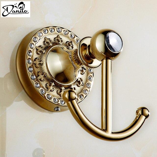 Home Decoration New Chrome Antique Bronze Gold Color Brass Decorative Wall  Hooks Clothes Hanger Metal Towel