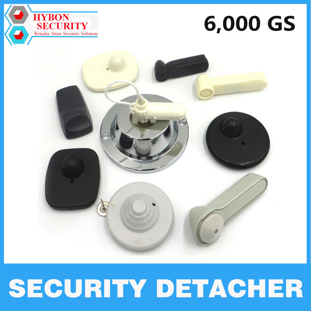 HYBON Magnetic Security Tag Remover EAS Tag Detacher 6,000GS Anti-theft Tag Remover magneet ontkoppelaar