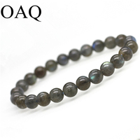AAA Natural Blue Light Labradorite Gemstone Round Bead Girl Bracelet For Women Gift