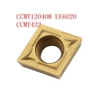cnc cnc חותך 20PCS CCMT120408 / CCMT432 VP15TF / UE6020 CNC להב פלדה אל חלד חותך טונגסטן קרביד מחרטה R0.8 חותך (1)