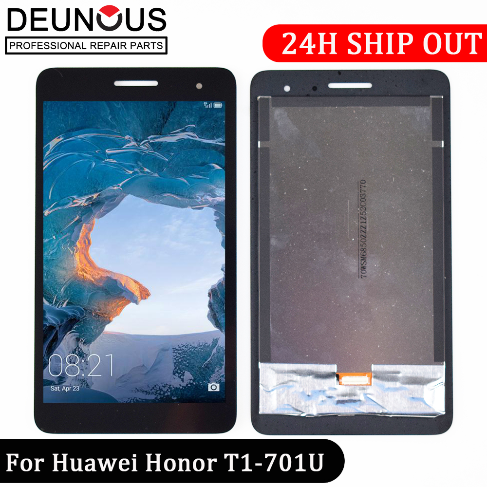 New 7'' inch For Huawei Honor Play Mediapad T1-701 T1 701U T1-701U LCD Display With Touch Screen Panel Digitizer free shipping for huawei mate 7 lcd display and touch screen with frame assembly black stock for huawei mate 7 smart phone free shipping