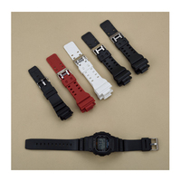 Color Plastic Watch Strap Stainless Steel H Clasp 16MM Watch Strap Accessories Apply To For Casio