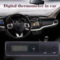 DS1 Ультра-тонкий Легкий Цифровой Термометр Авто ЖК-Дисплей В Out Clock для Автомобиля Главная Автомобиля-50C ~ + 70C (-58F ~ 158F) Последние