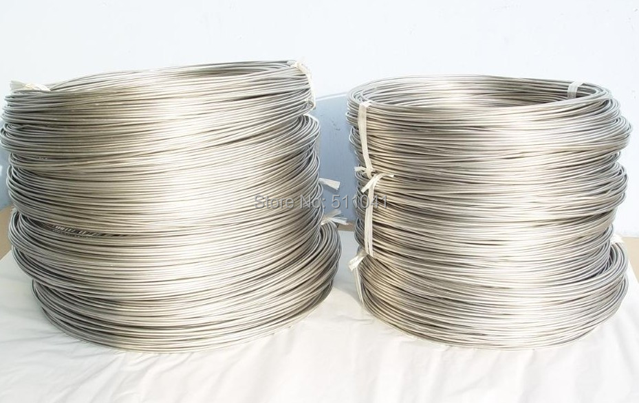 Nickel wire, Purity 99.95%,0.1mm-6mm diameter,free shipping Paypal is available hot sale high purity welding tungsten crucible 90 2mm 130 mm paypal is available