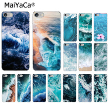 MaiYaCa Blue sea  DIY Painted Beautiful Phone Accessories Case for iPhone 7 7plus X XS MAX 6 6S 8 8Plus 5 5S XR