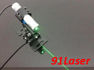ФОТО 532nm Green laser module 20mW  Line with power adapter and laser bracket