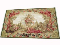Free shipping 3.4'X5.7' 100% Wool Aubusson Tapestry 100% handmade Square Tapestry carpet wall tapestry
