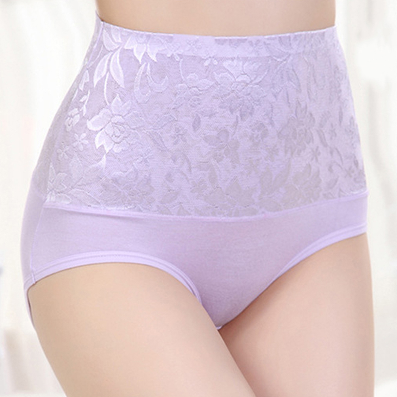 New Women High Waist Control Panties Briefs Body Shaper Hip Abdomen Tummy Flowers Panties Underwear Women Panties HO829262