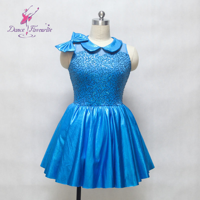 Blue Sequin Dress for Jazz Dance Girls Stage Costumes Jazz Ballet Dancing  Dresses Child Adult 088f3b4a39b8