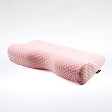 ФОТО orthopedic latex super flexible 50*30cm neck pillow slow rebound memory foam sleep pillow cervical health pain release pillow