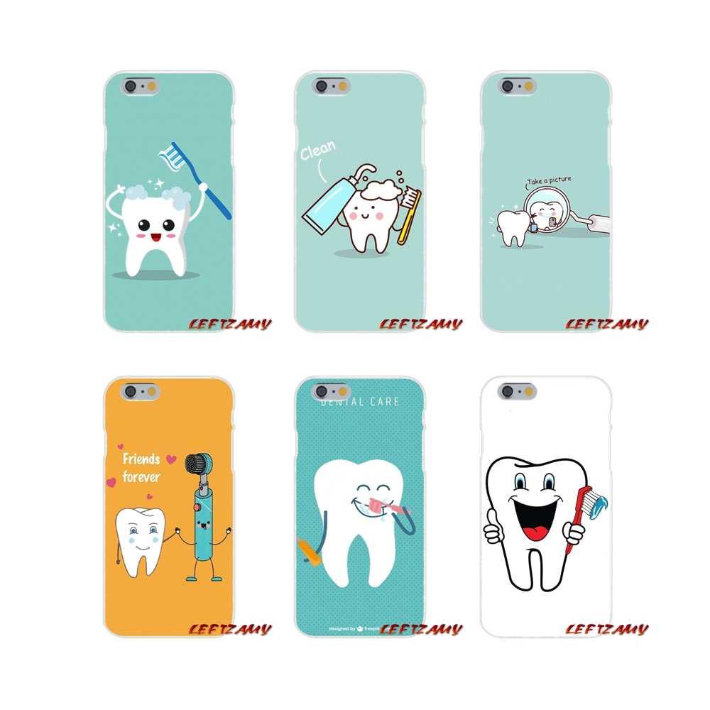 Фото Милый мультфильм Стоматолог Зубной коронованный зуб Мобильный телефонные чехлы