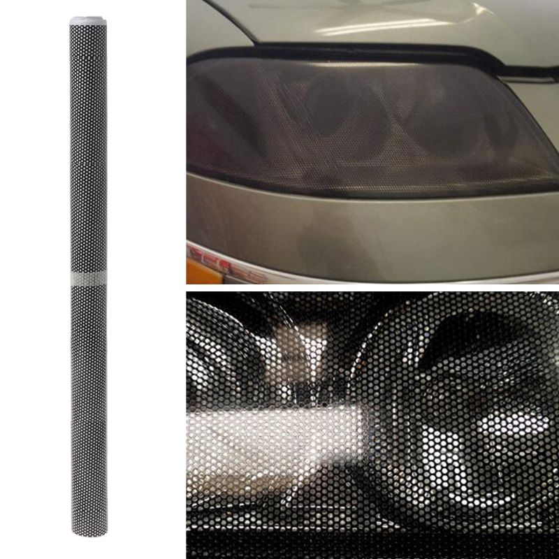50x106cm Tinting Perforated Mesh Film Fly Eye MOT Legal Tint Car Front Rear Headlight Light Bulb in Shell from Automobiles Motorcycles
