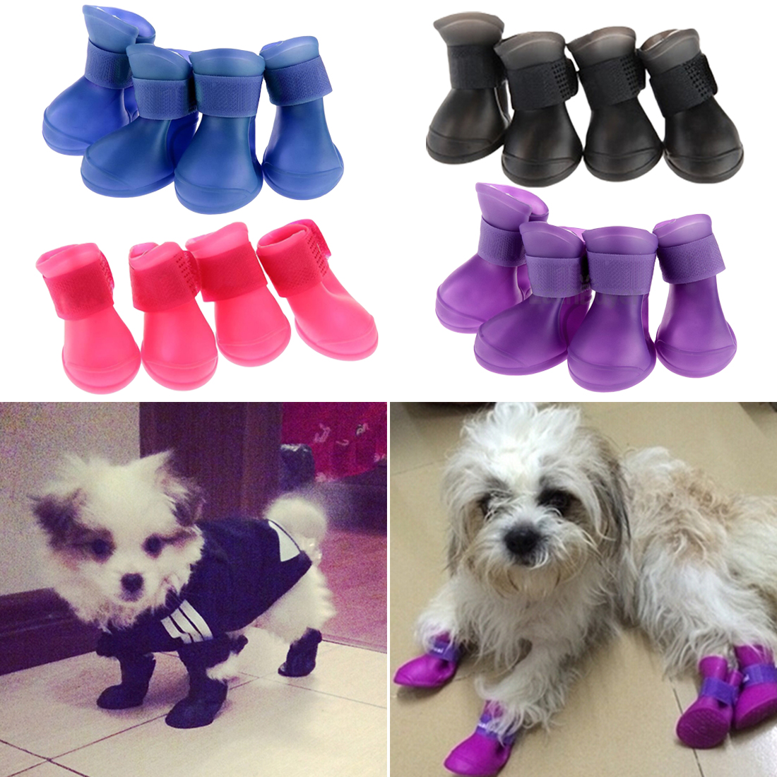 Pet Yorkie Dog Shoes Waterproof Rain Shoes For Small Dogs