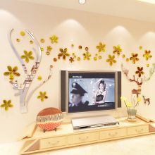 3d self-adhesive acrylic wall sticker deer Romantic creative wedding room decoration Living TV background poster