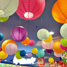 High quality 14 Inch (35cm) Chinese Round Paper Lantern for Wedding Event Party Decoration