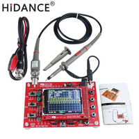 2.4 TFT Digital Oscilloscope 1Msps Kit Parts for Oscilloscope Making Electronic diagnostic tool Learning Set DSO138+P6040 Probe