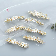 2019 summer new trend hot fashion wild crystal flower hairpin pearl spring clip girl headwear 8 style selection H269