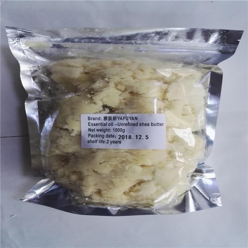 YAFUYAN 100g-1000g Raw Semulajadi Organik Semulajadi Tidak Semula Shea Butter Oil Grade Segar Berkhasiat Melembapkan Penjagaan Kulit Kedut