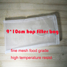hot sale 5pc/lot 9*10cm fine mesh food grade home brew hop filter bag soup seasoning filter bag nylon mesh tea filter bag wine