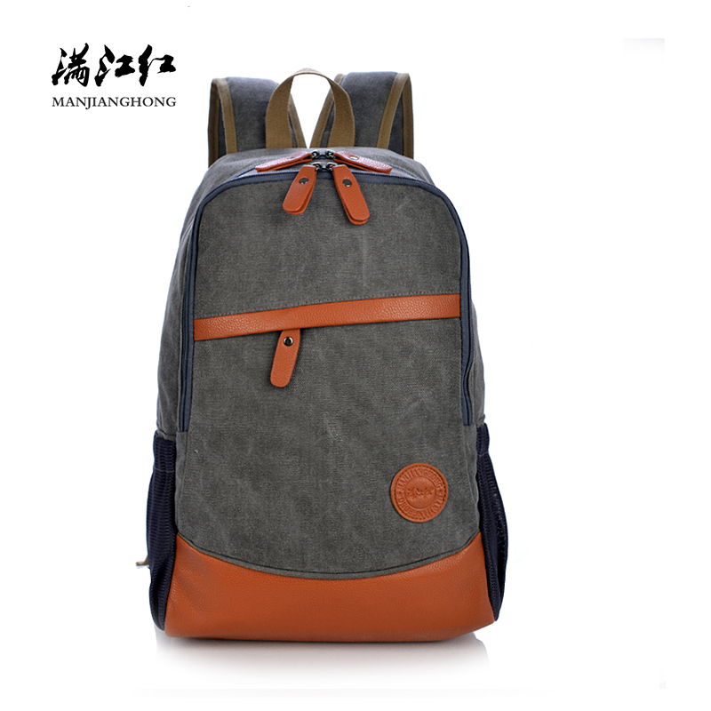 Large Capacity Vintage Canvas Travel Backpack Men Patchwork Leather Men Laptop Backpack 14 Inch Casual School Bags For Boys 1125 men large capacity travel back pack waterproof oil wax canvas 14 inch laptop backpack vintage college casual youth school bags