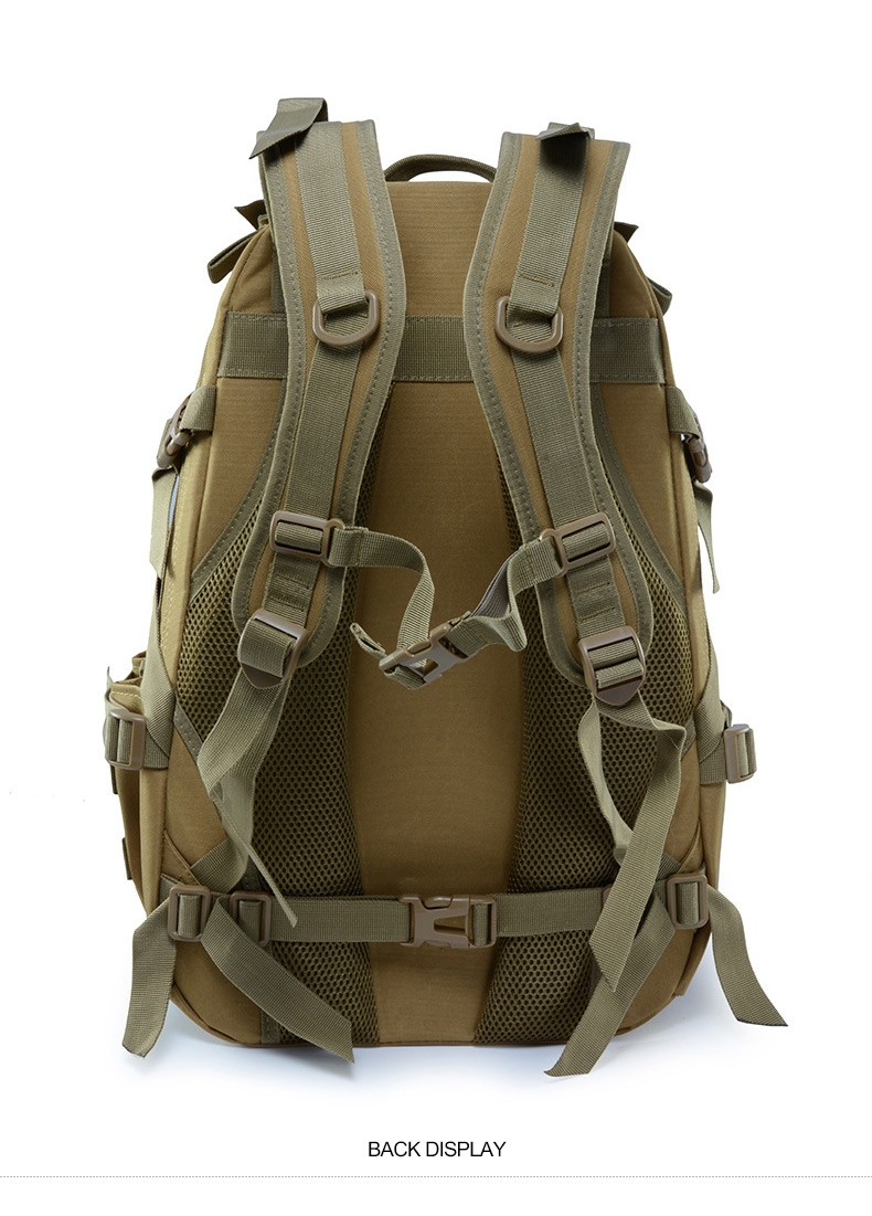 40L Camping Backpack Military Bag Men Travel Bags Tactical Army Molle Climbing Rucksack Hiking Outdoor Sac De Sport Tas XA714WA