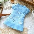 2016 del verano de la rebeca del recién nacido 0 - 36 M del bebé hizo punto la capa del suéter infantil ropa de los niños